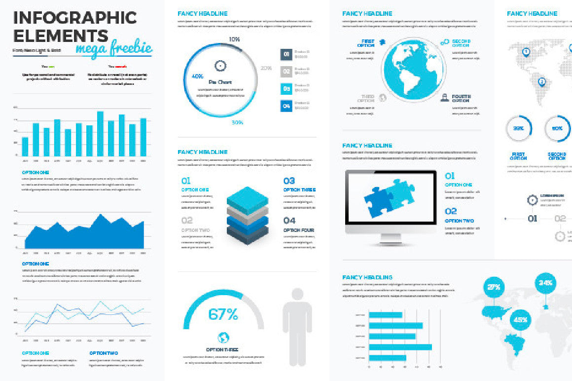 Infographic Vectors Mega Collection - CreativeBooster