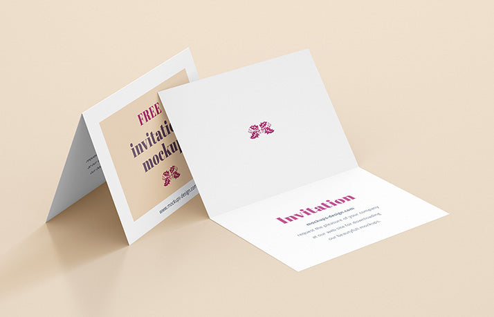 Free 4 x white invitation card mockups creativebooster free 4 x white invitation card mockups stopboris Image collections