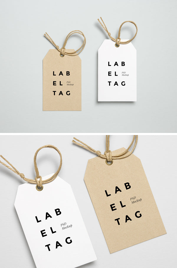 free outstanding label tag psd mockup