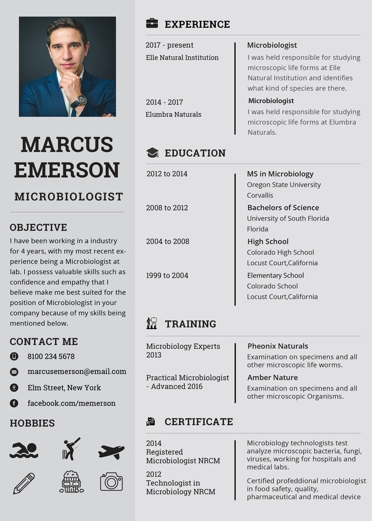 Free Microbiologist Resume CV Template in Photoshop (PSD ...