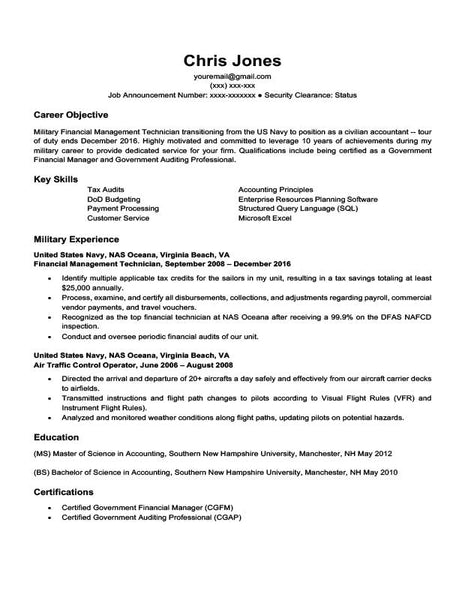 Free The Military-to-Civilian Resume Templates in Microsoft ...