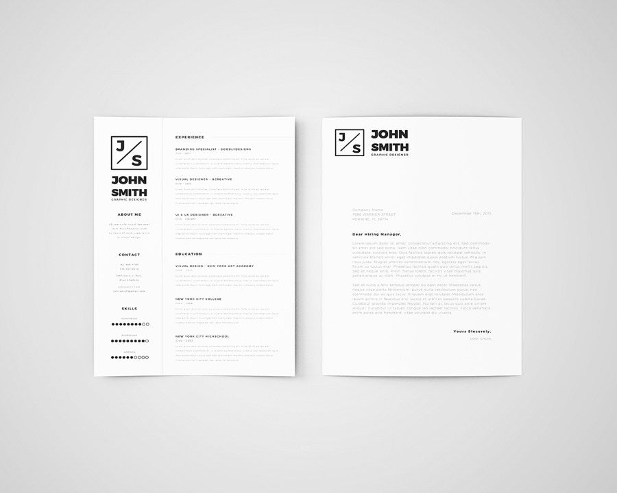 Free Minimalistic Resume and Cover Letter Template for ...