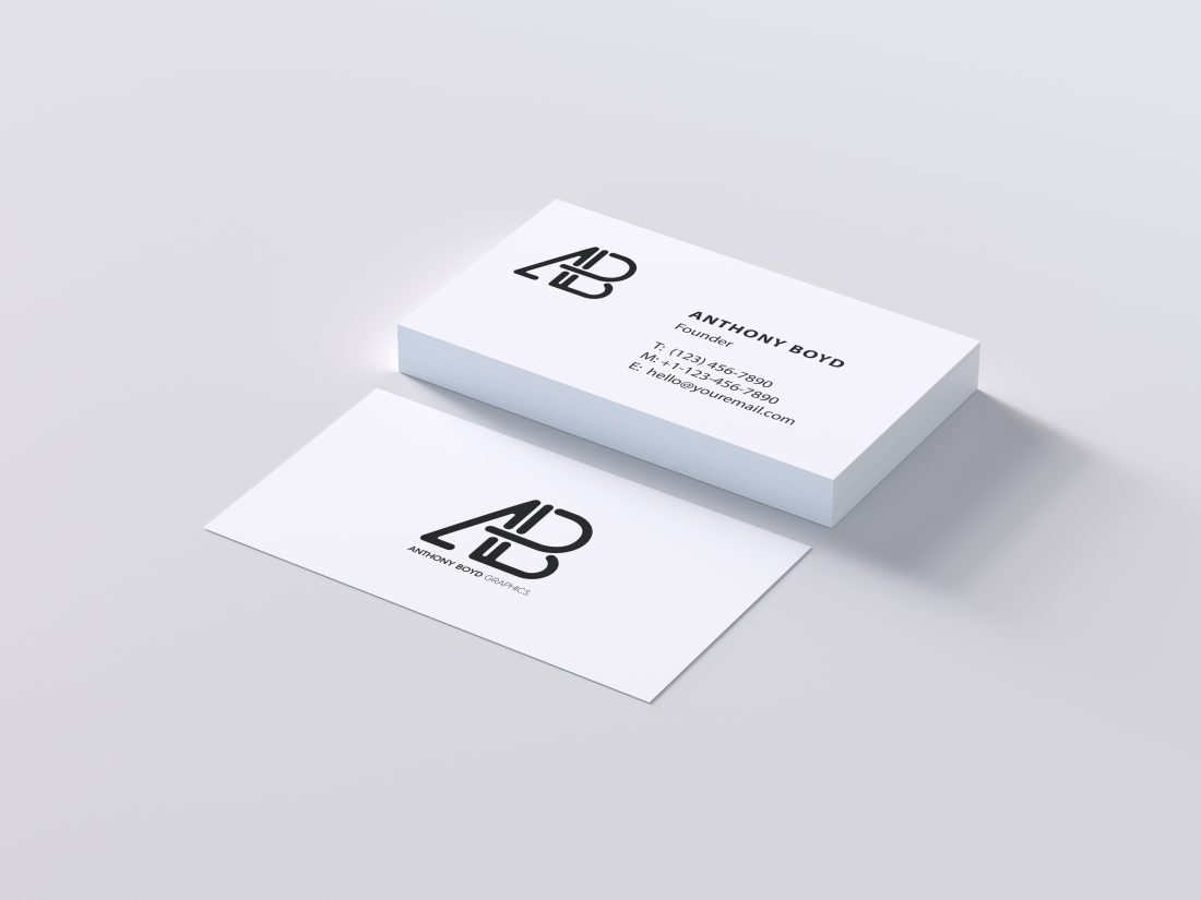 Free Clean White Modern Business Card Psd Mockup Creativebooster
