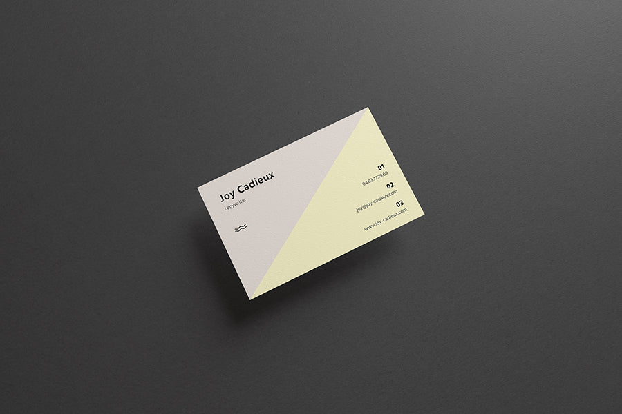 Free business card mockups creativebooster free modern stylish business card mockup on a black background reheart Image collections