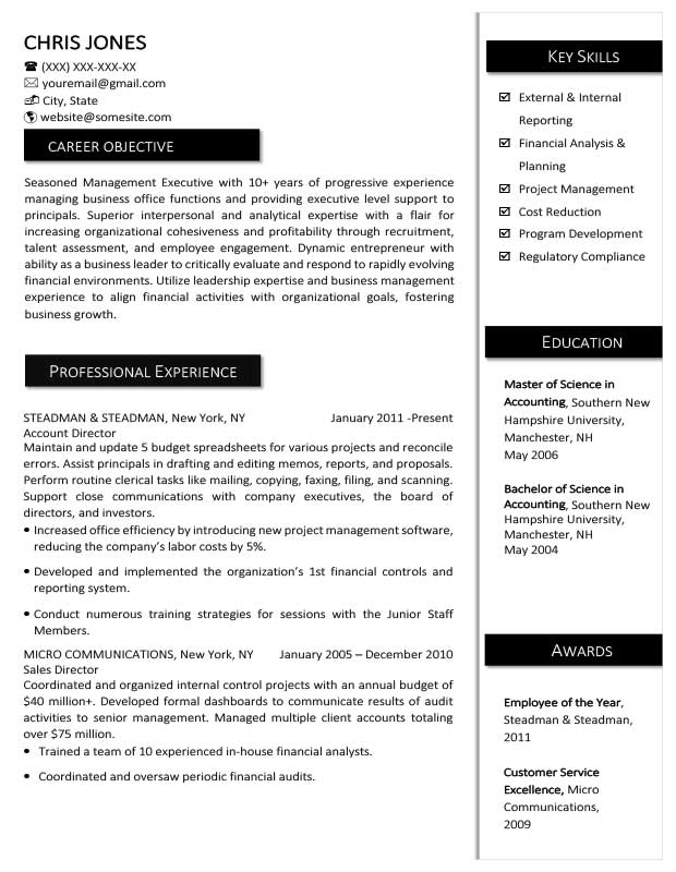 Free Creative Monticello Resume Templates in Microsoft Word ...