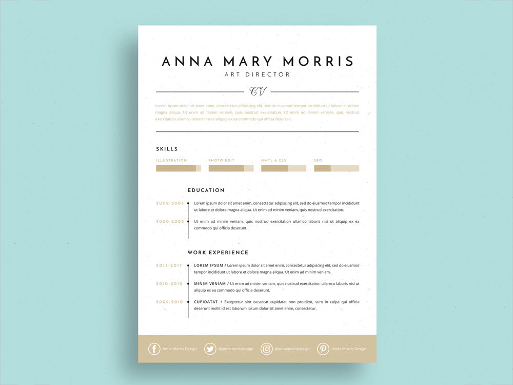 Free Artist Resume Template from cdn.shopify.com