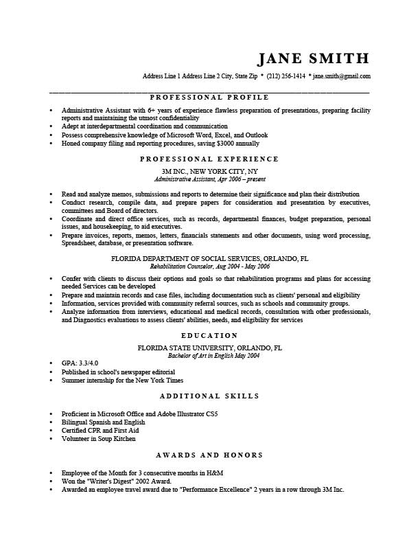 Free Professional Murray Resume Templates In Microsoft Word Format