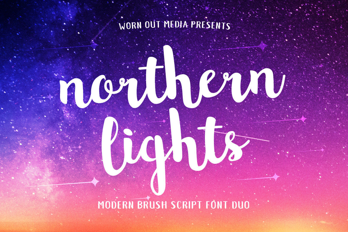 Northern Lights Font Duo