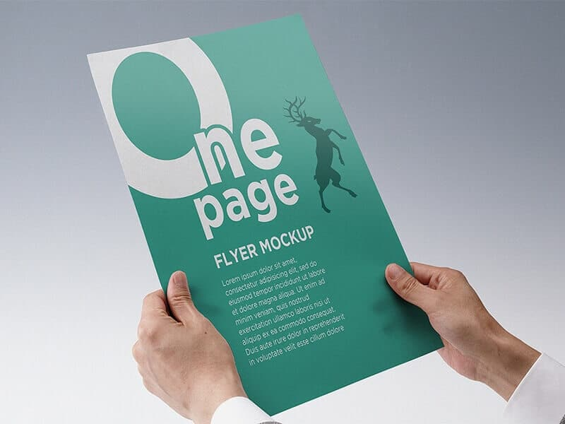 Free One Page Flyer Mockup CreativeBooster
