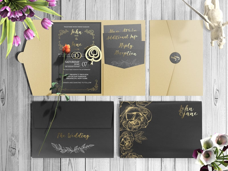 Products tagged invitation creativebooster free invitation card and envelope mockups stopboris Image collections