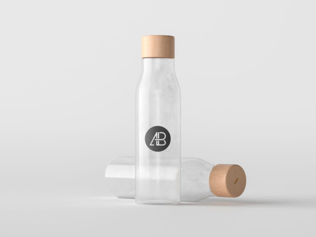 Free Premium Minimal Bottle Mockup Download - CreativeBooster