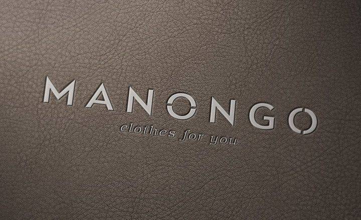 free logo mockup with a brown leather and depth of f field