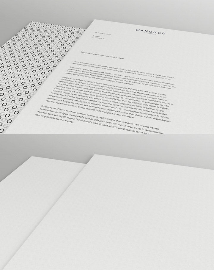 Free Highly Detailed Letterhead Mockup