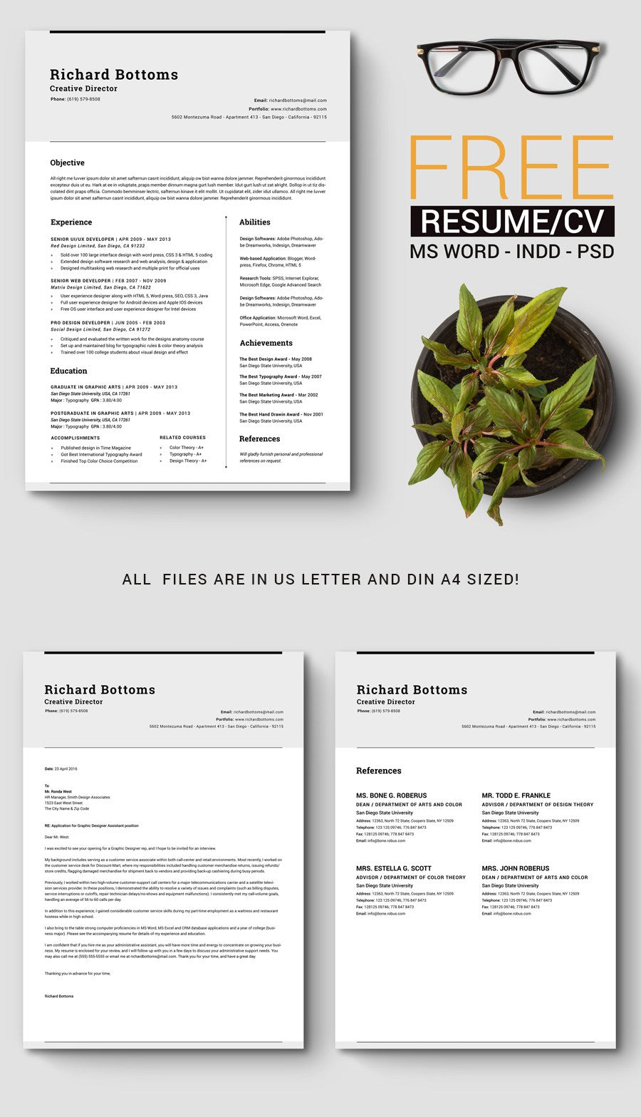 Free Timeless Resume And Cv Template In Microsoft Word Doc Docx