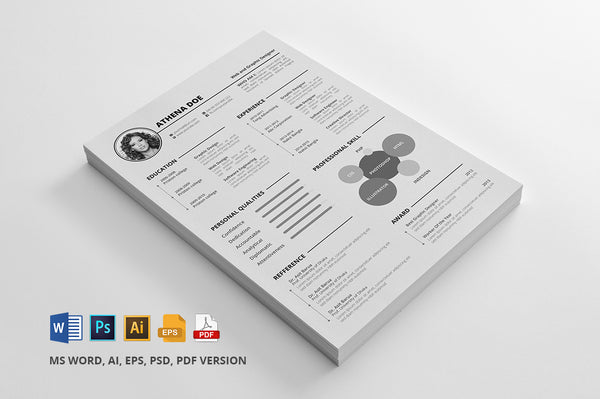 free cv resume template for microsoft word  illustrator  ai  and photo