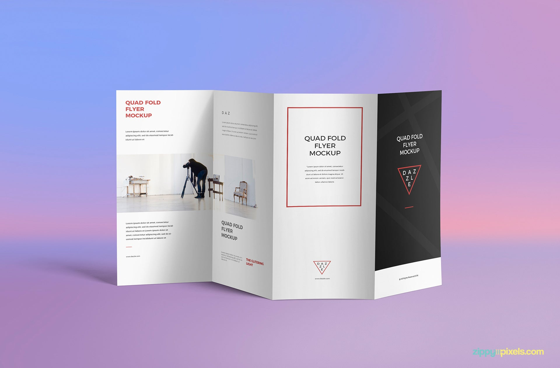 Free 21-Fold Brochure PSD Mockup - CreativeBooster Throughout Z Fold Brochure Template Indesign