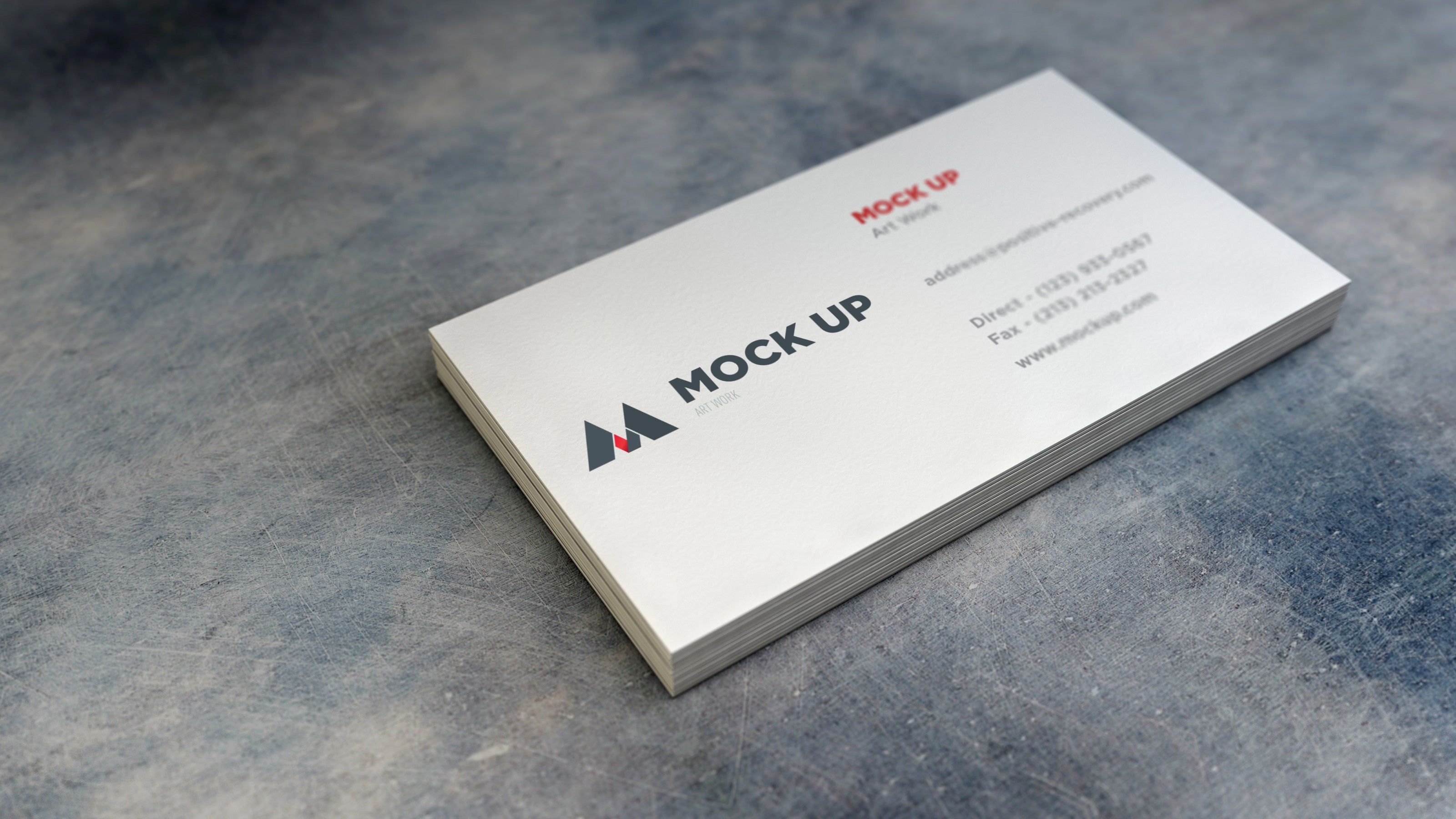 Free Realistic Empty White Business Card MockUp - CreativeBooster