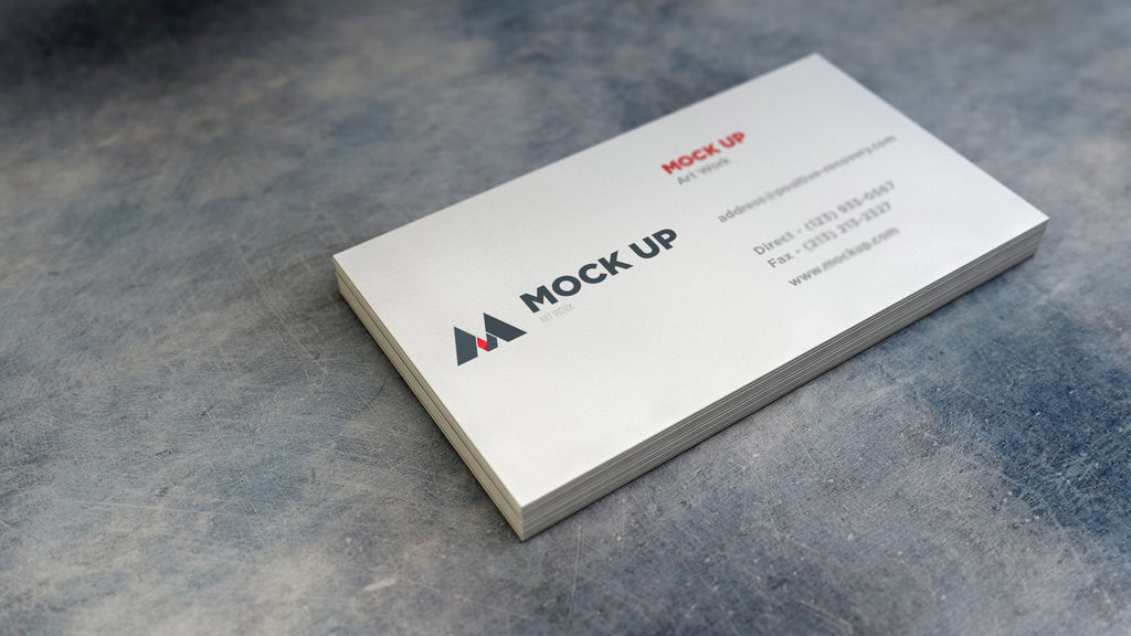 Free business card mockups creativebooster free realistic empty white business card mockup friedricerecipe Gallery