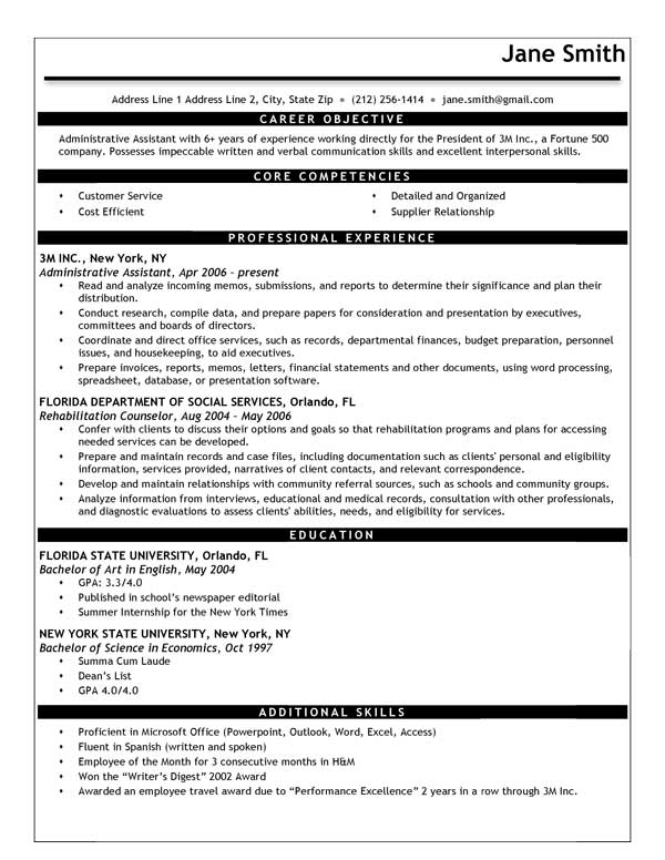 Free Modern Resume Templates In Microsoft Word Format