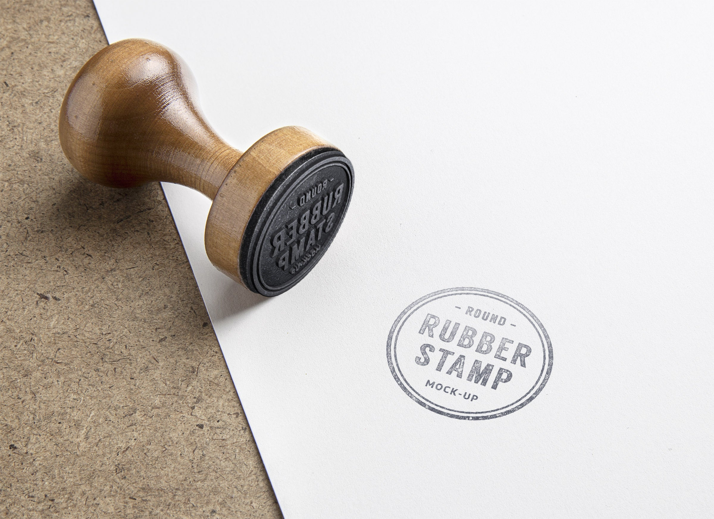 Free Real Rubber Stamp Psd Mockup Creativebooster