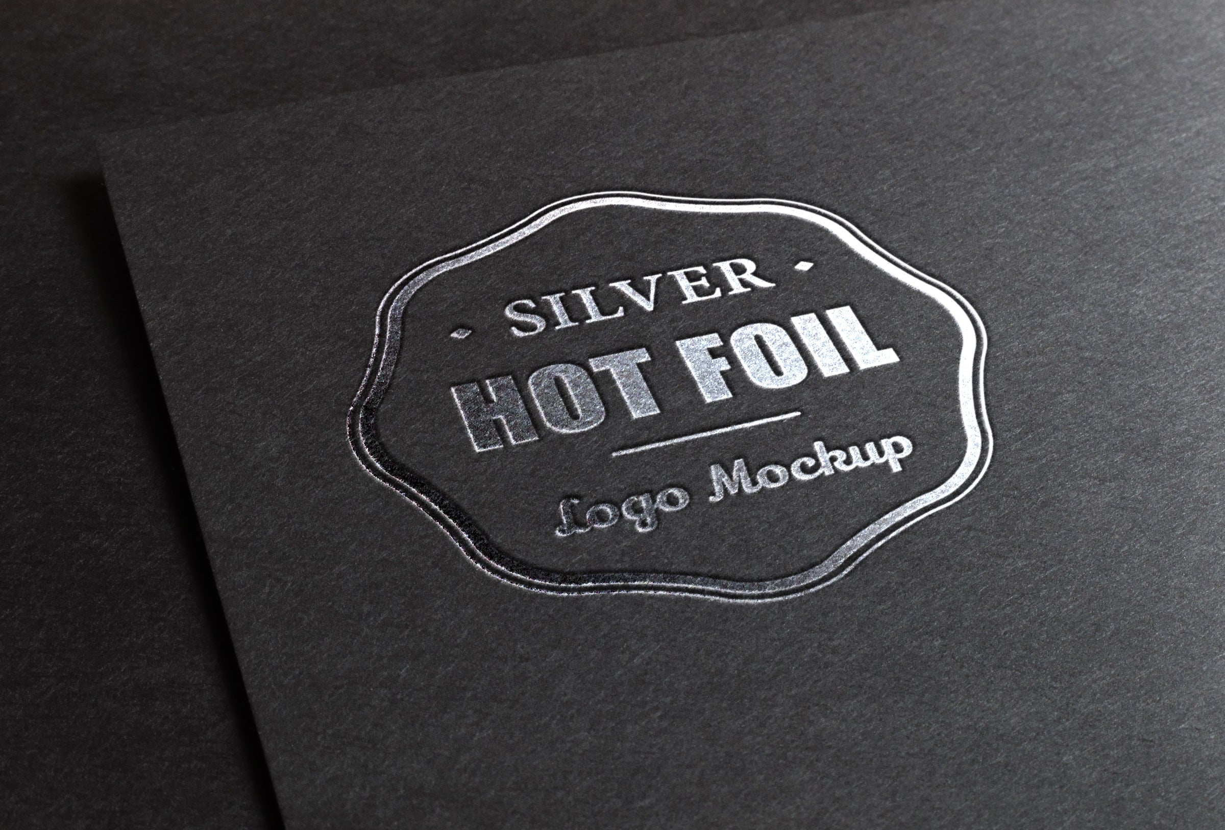 Free Silver Stamping Foil Logo Psd Mockup Creativebooster