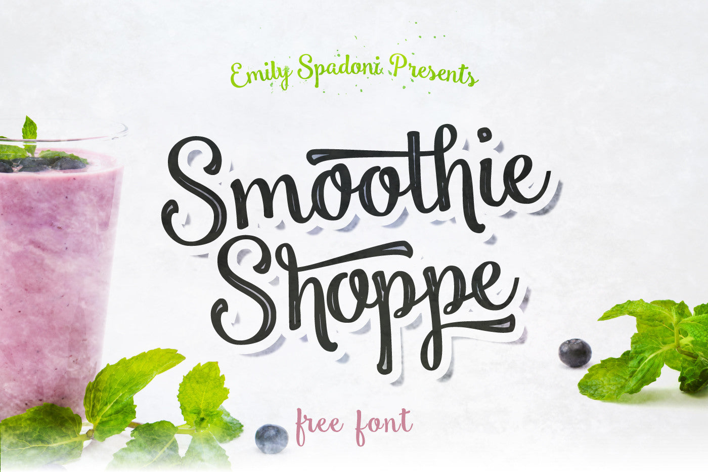 Smoothie shoppe free script font preview 01