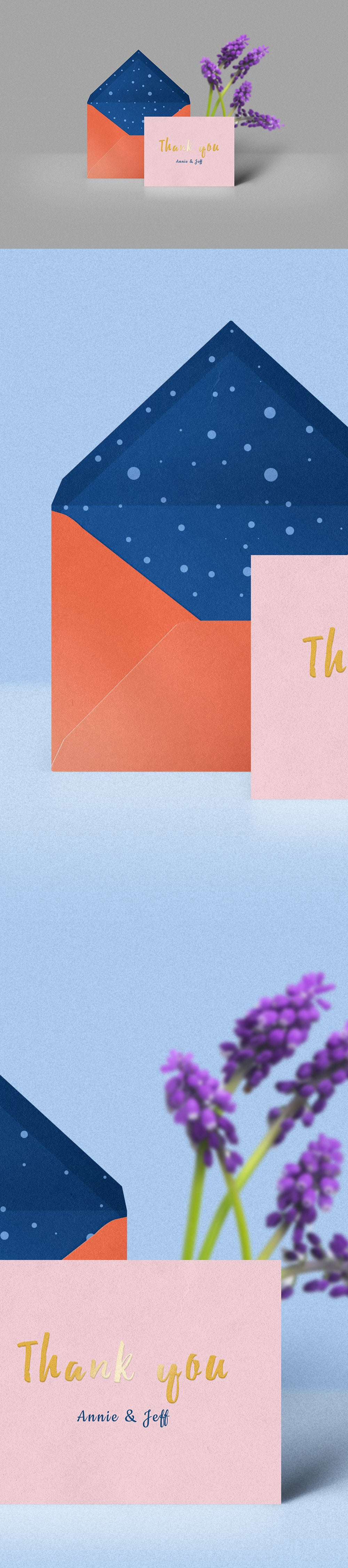 Free Thank You Card And Envelope Mockup