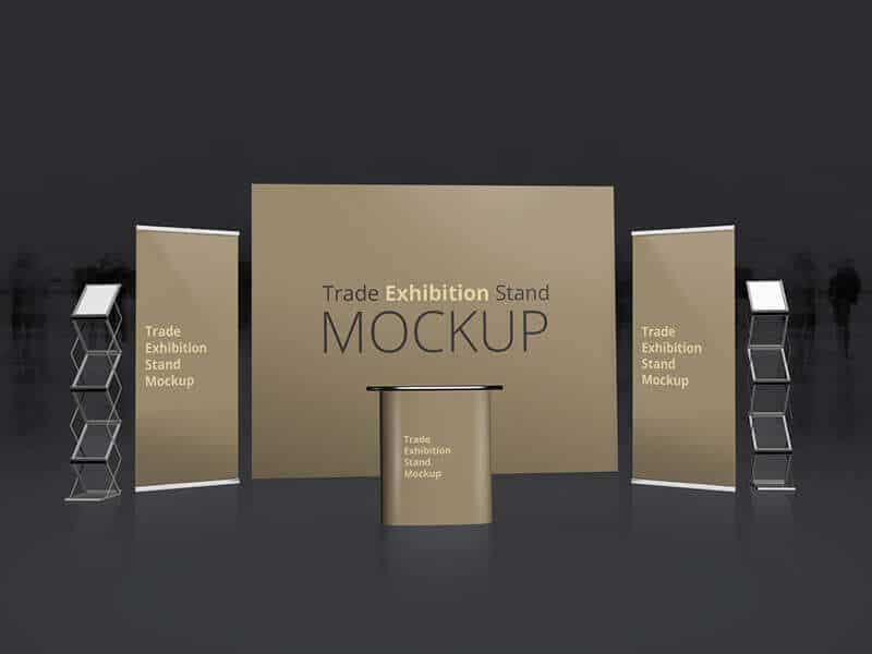 free trade exhibition stand mockup