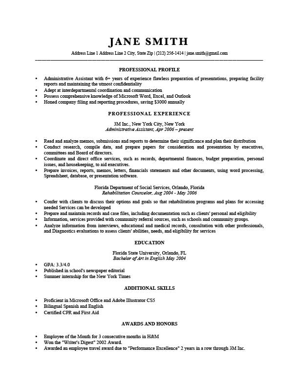 Free Professional Trump Resume Templates In Microsoft Word