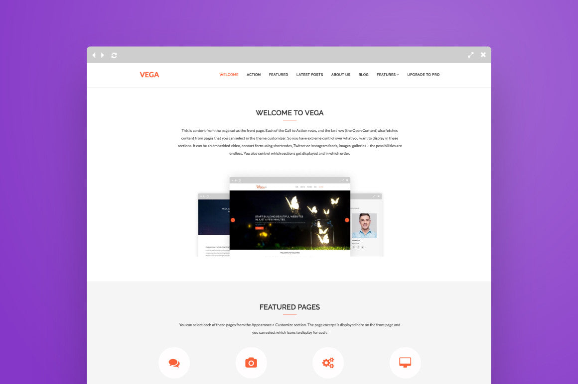 Vega free wordpress lite one page theme preview 01   main a02e0edd f754 4c50 ae60 f85a9c382970