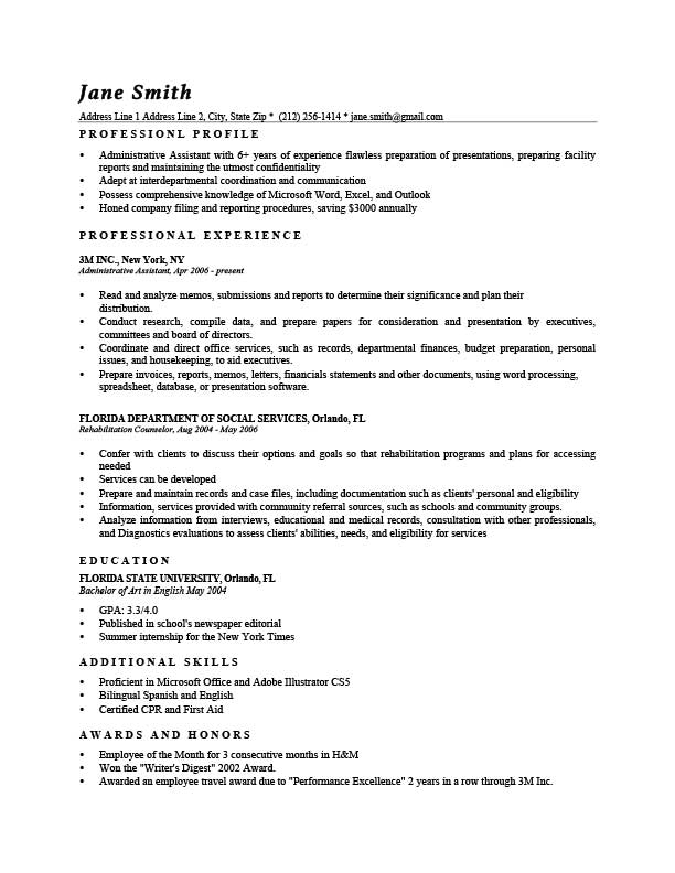 free professional washington resume templates in microsoft word format
