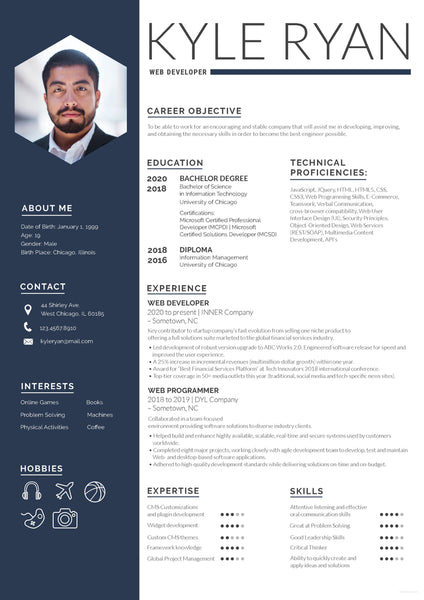 free web developer resume cv template in photoshop  psd