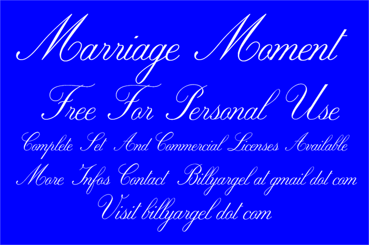 Free Marriage Moment Font - CreativeBooster