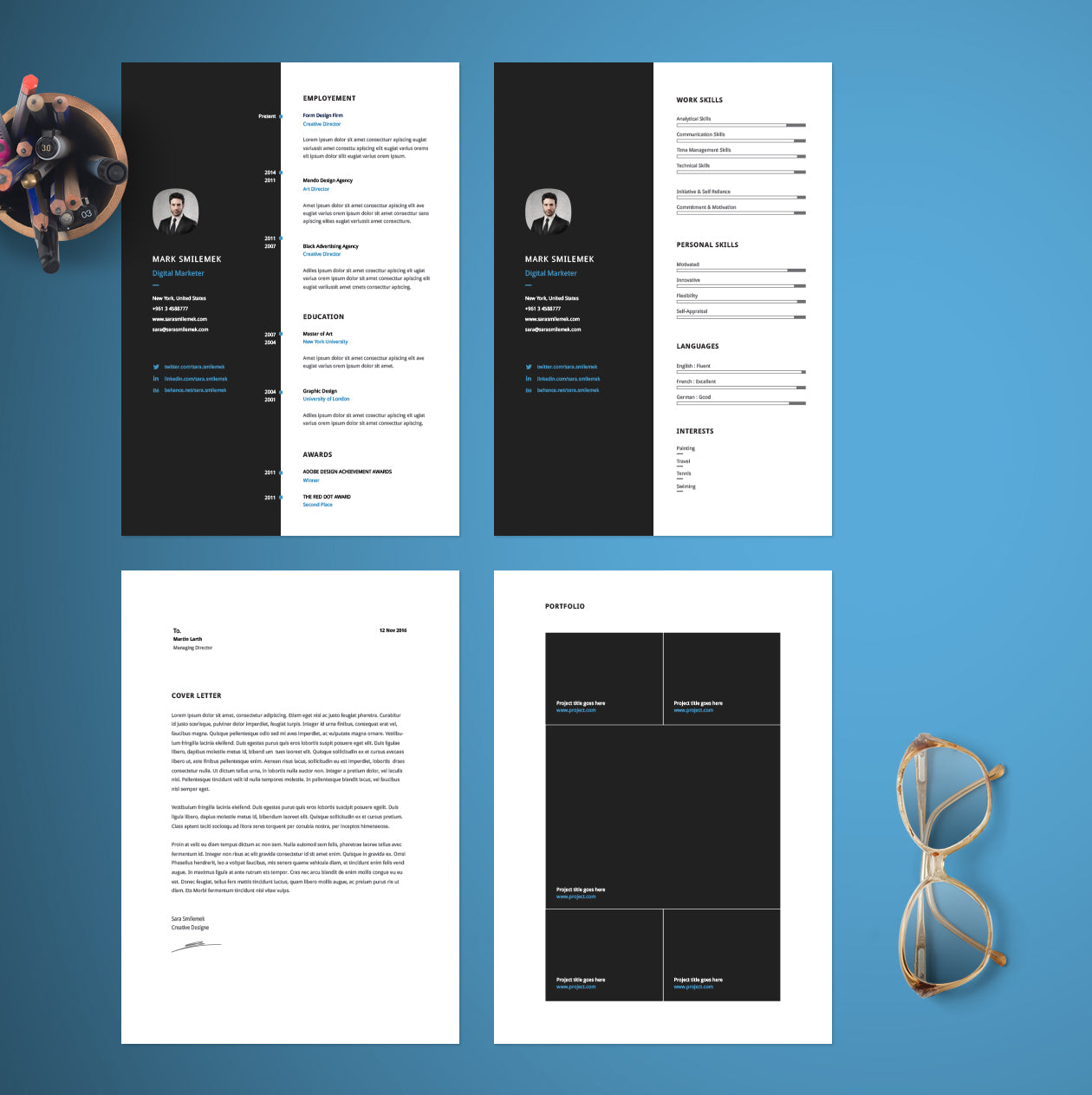 free vertical resume cv template in photoshop  psd