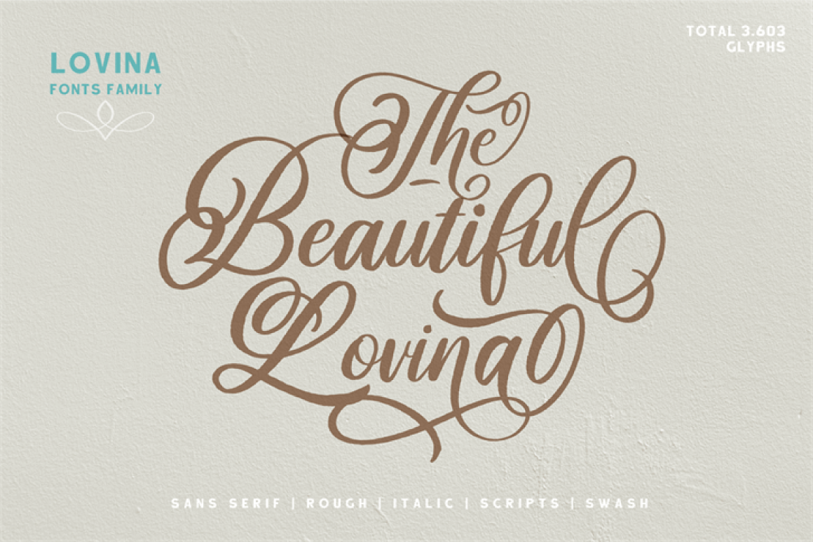 free beautiful lovina font