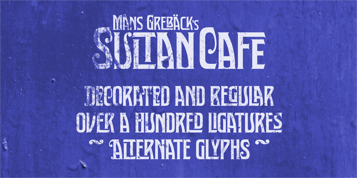Free Sultan Cafe Font - CreativeBooster