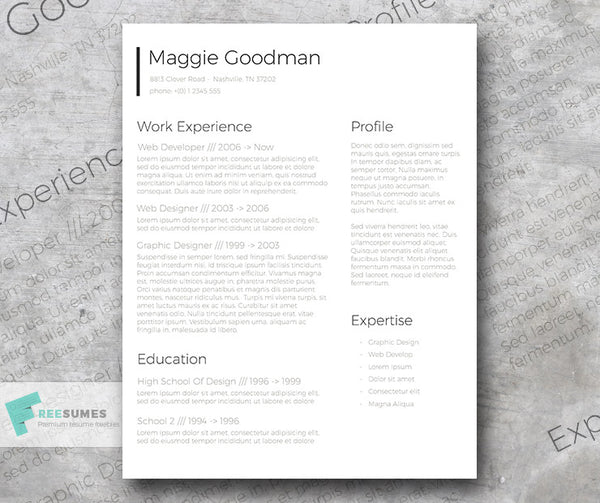 free classic conservative sleek cv resume template in