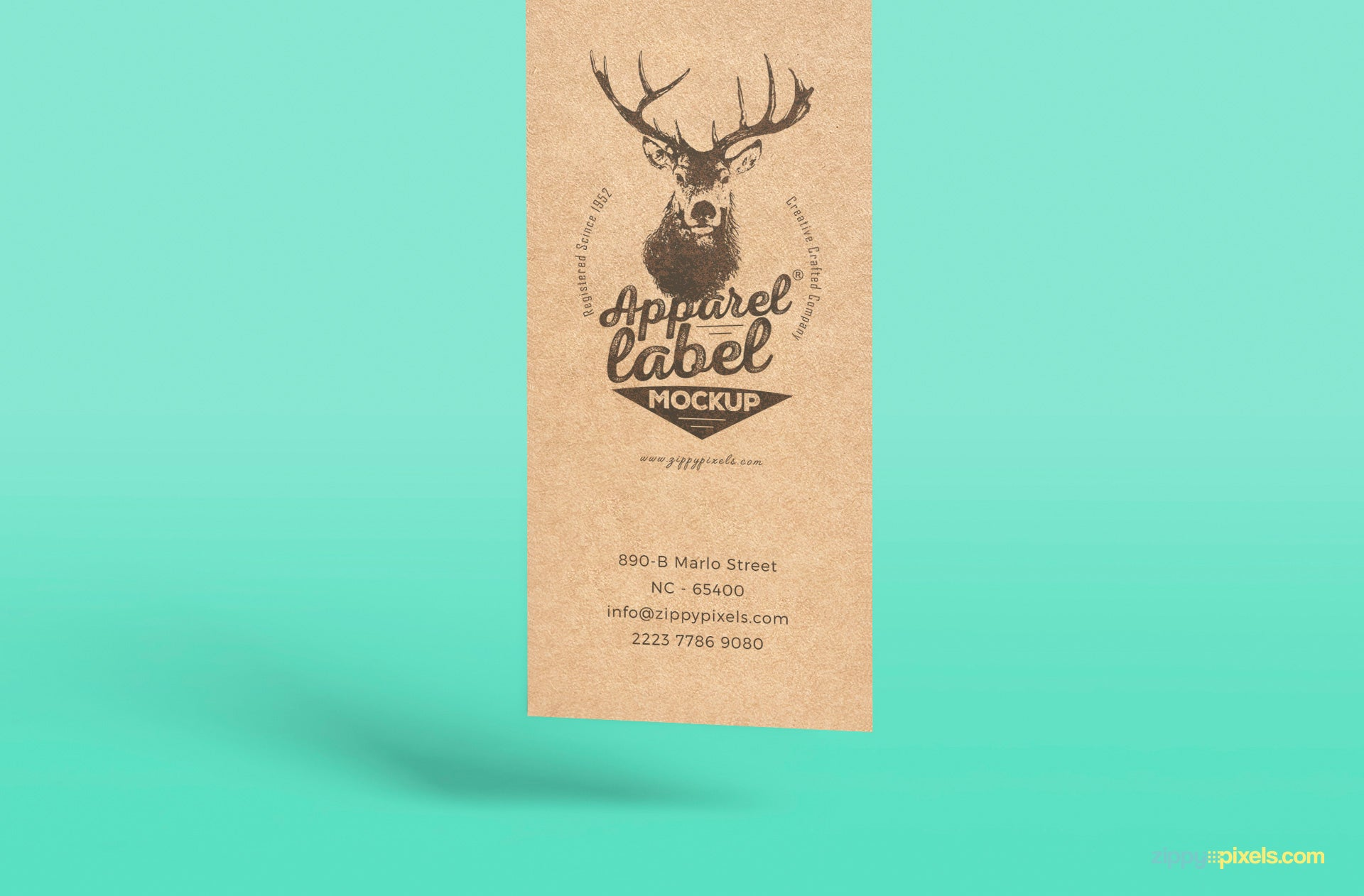 free superious apparel label mockup