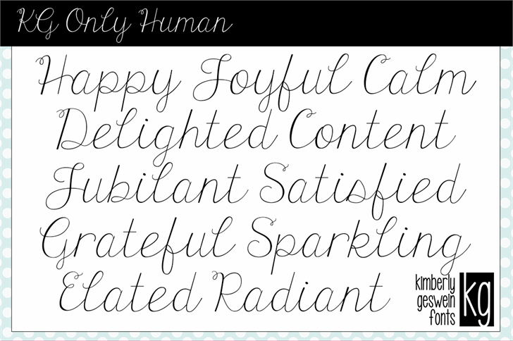 Free KG Human Font - CreativeBooster