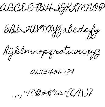 Free Handwriting Fonts tagged