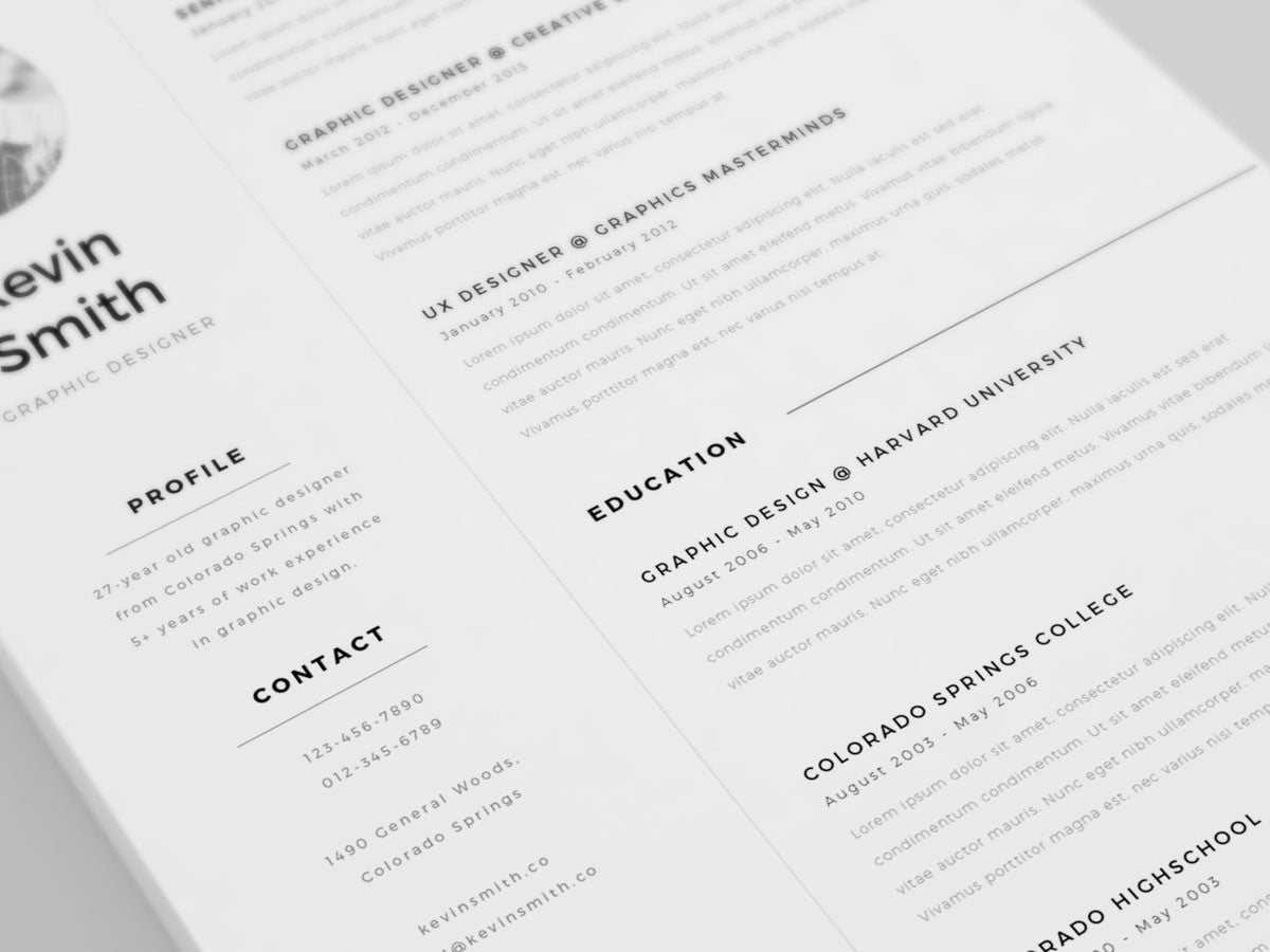 free clean and minimal resume template minimalist resume template