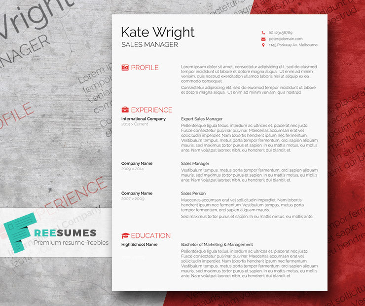 Free Modern Smart Cv Resume Template In Minimal Style In