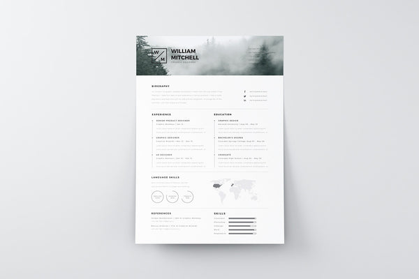 clean resume template free minimalistic and clean resume template creativebooster 20859