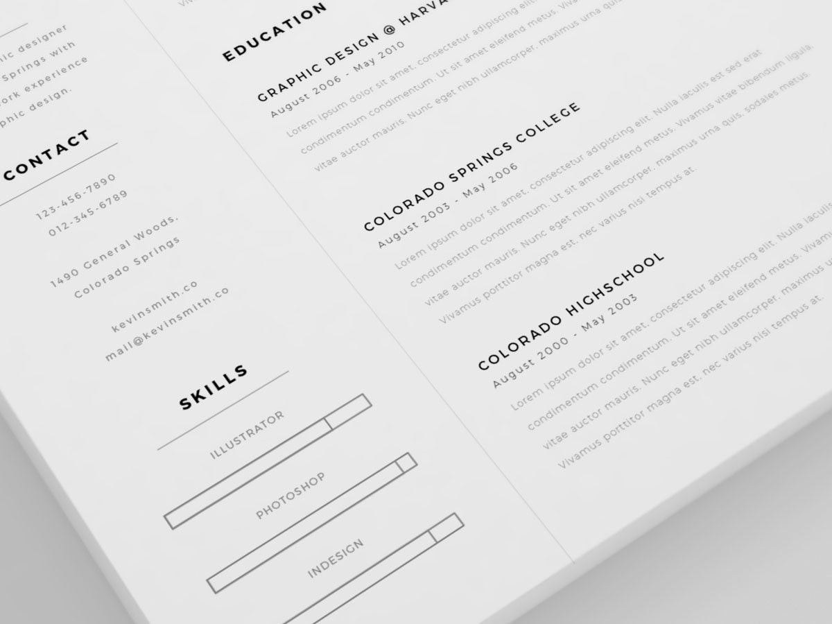Free Clean And Minimal Resume Template  Creativebooster