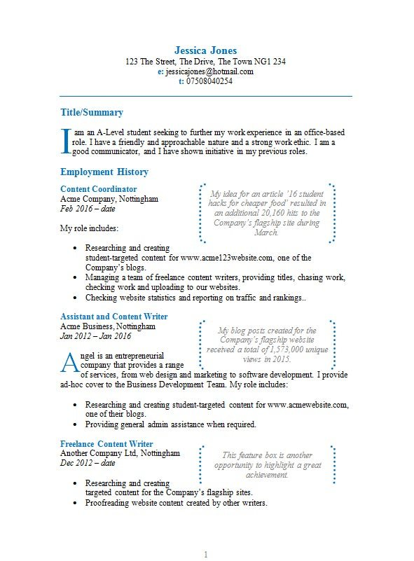 Free Featured Boxes Cv Resume Template In Microsoft Word Doc