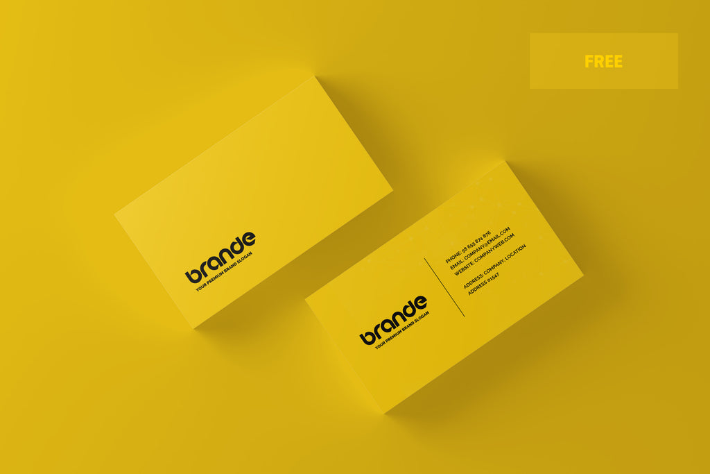 free simple and minimal business card mockup - Business Card Mockup Psd