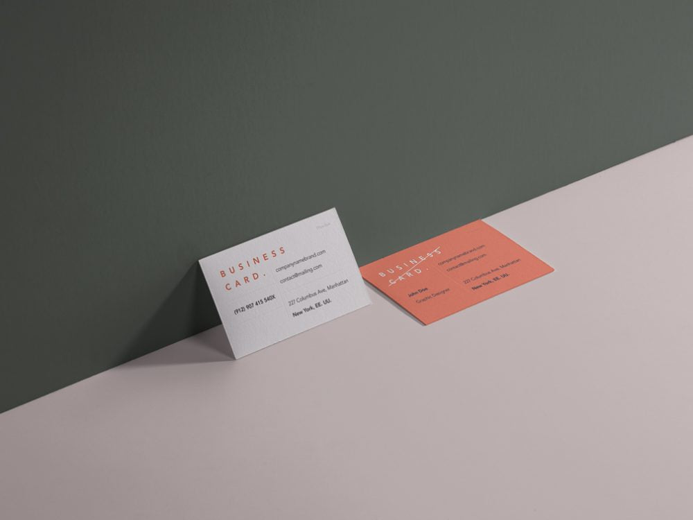 Free stationery mockups creativebooster free business cards showcase mockup cheaphphosting Gallery