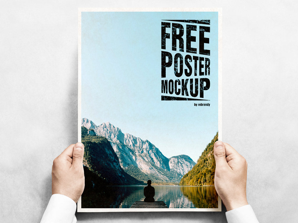 a4 poster mockup free download