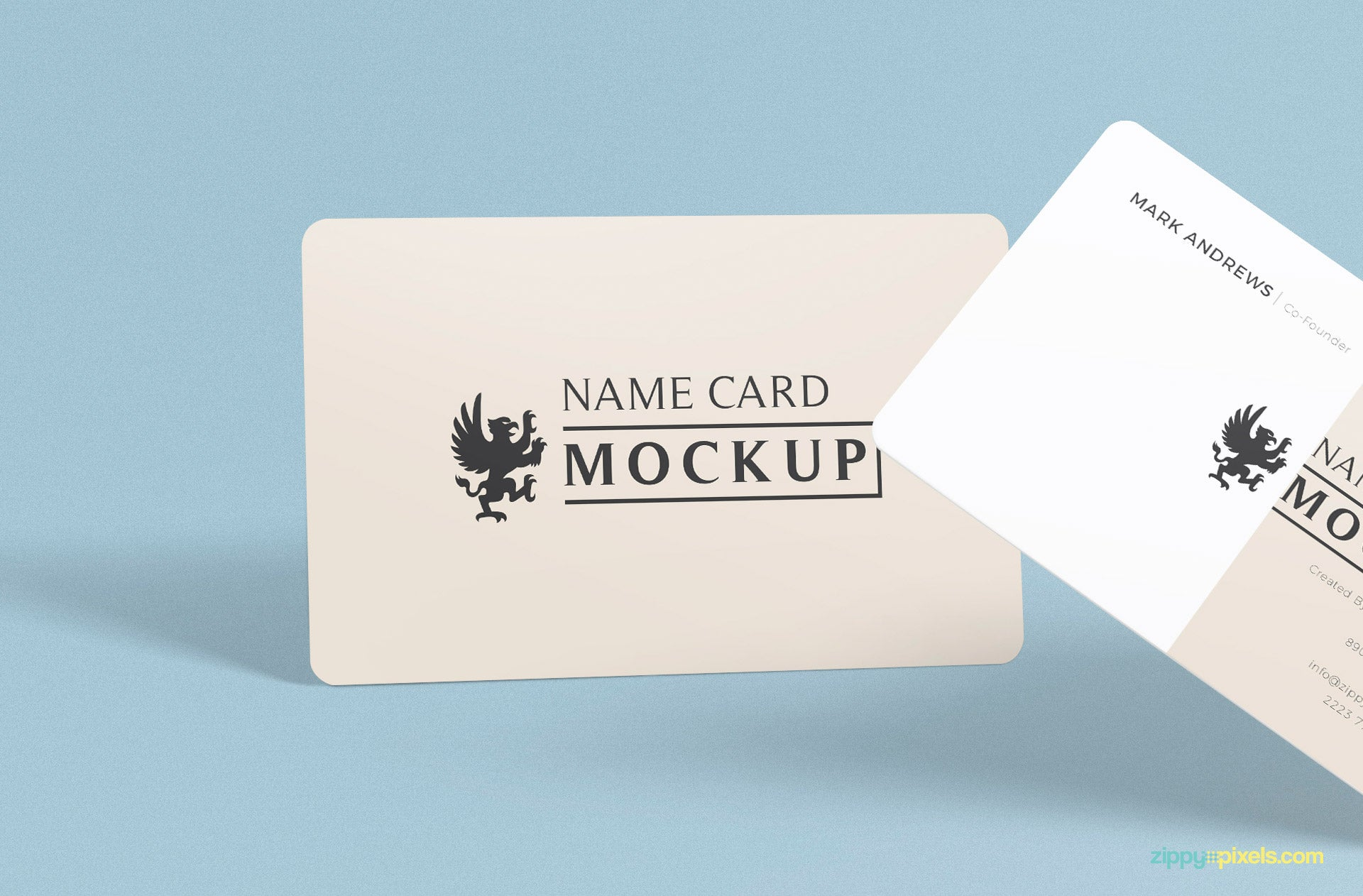 Free Exquisite Name Card Mockup Psd Creativebooster