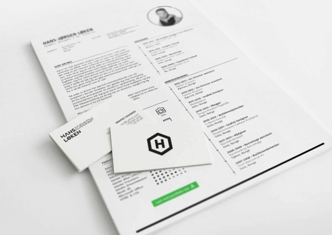 free resume template and cv in indesign  indd  format
